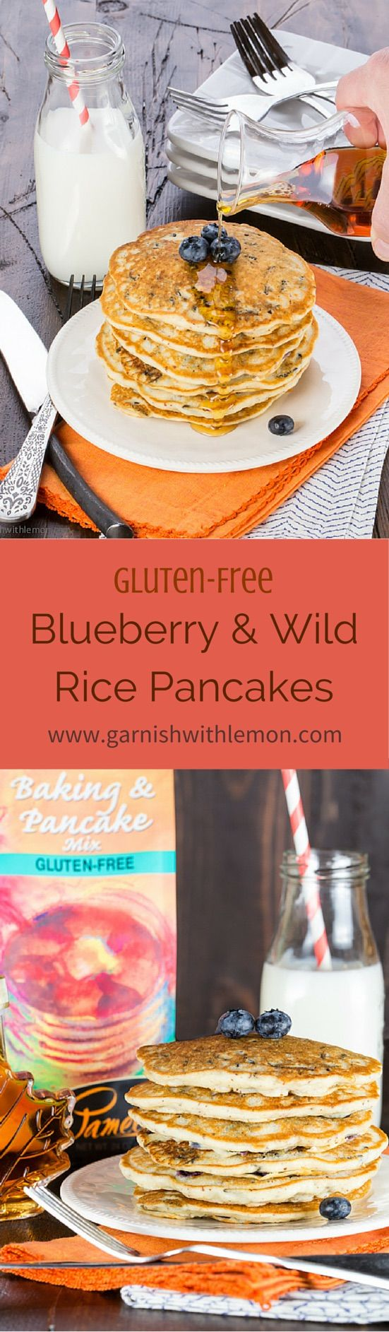 Ever been to Minnesota? Now you can eat like a local wherever you live with these Minnesota Blueberry and Wild Rice Pancakes! ~ http://www.garnishwithlemon.com