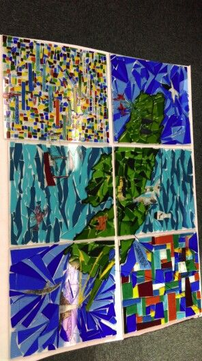 Stained glass mosaic...in progress