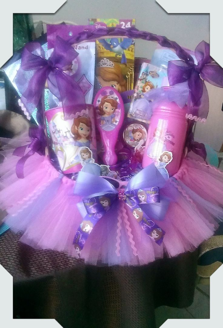 Sofia The First Gift Basket - Made By Norma's Unique Gift Baskets