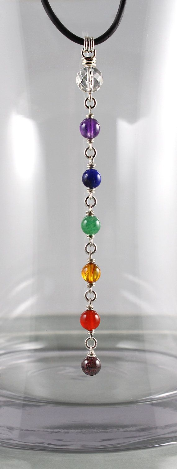 Collar de Chakra collar de piedras por goodmedicinegemstone en Etsy                                                                                                                                                                                 Más