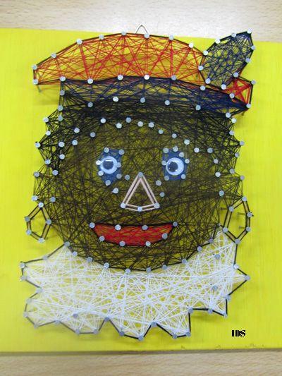 ~Zwarte Piet gemaakt van spijkers en draad~