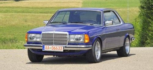 blau mit wow effekt mercedes benz w123 coupe mercedes. Black Bedroom Furniture Sets. Home Design Ideas