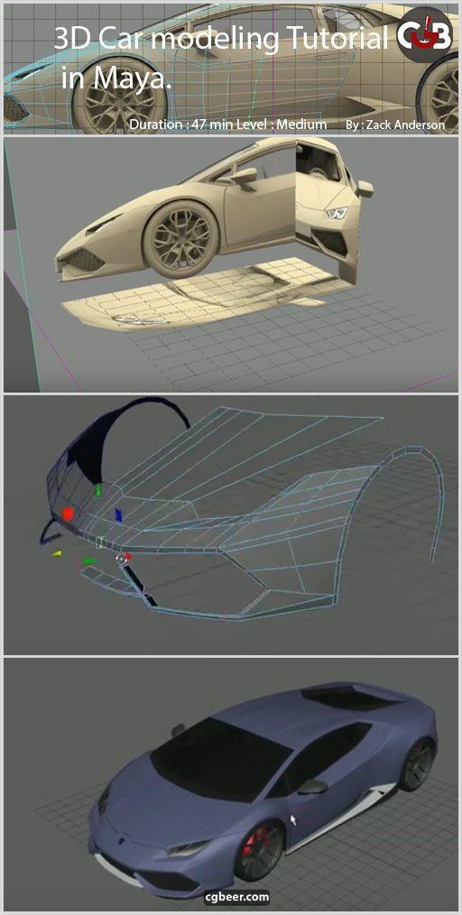 """3D Car Modeling Tutorial """"Modeling a Lamborghini Huracan"""