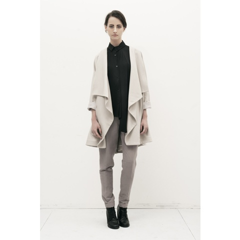 Cashmere Drape Coat by Livia Arena