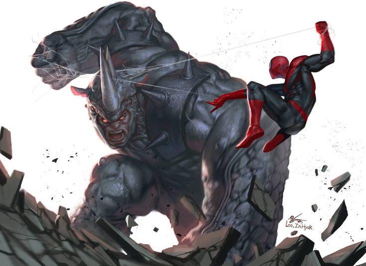 black spiderman vs rhino - photo #41