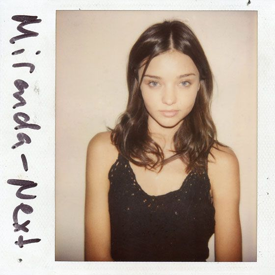 Old Polaroids of the famous Models by casting director Douglass Perrett.