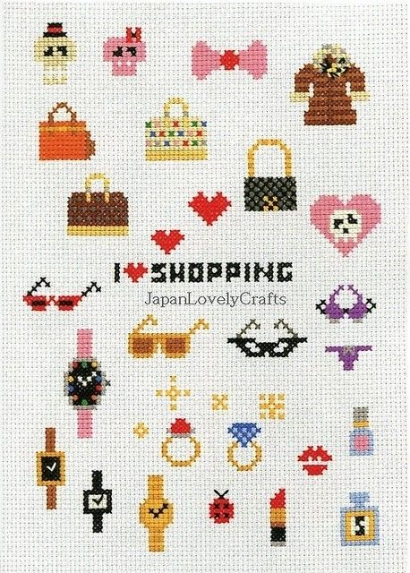 Kawaii Cross Stitch Book by Makoto Oozu by JapanLovelyCrafts