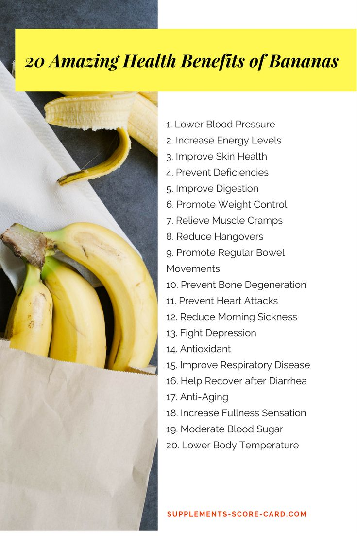 20 Amazing Health Benefits of Bananas - Supplements ScoreCard