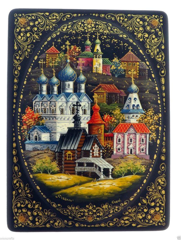 Suzdal Central Russia Russian Lacquer Box Palekh | eBay