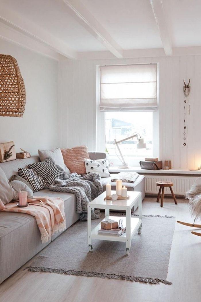 1001 id es d co salon cocooning de style hygge idee - Deco salon chambre ...