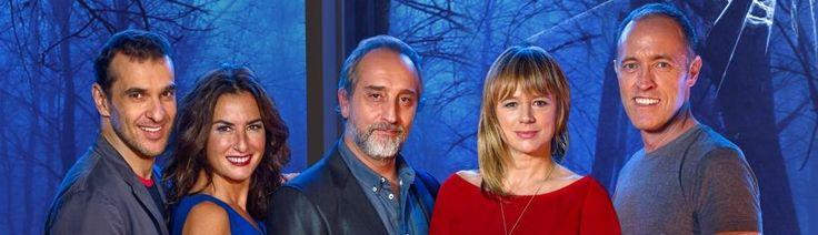 Imagen equipo DESEO. Grupo Smedia. Con Luis Merlo, Belén López, Gonzalo de Castro y Emma suárez bajo la dirección de Miguel del Arco.