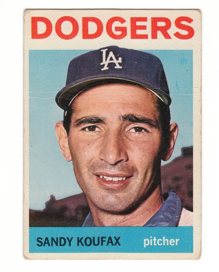 "Sanford ""Sandy"" Koufax is a retired American baseball player. A left-handed pitcher, he played his entire Major League Baseball career for the Brooklyn/Los Angeles Dodgers, from 1955 to 1966. He refused to pitch game 1 in the World Series, the LA Dodgers vs. The Minnesota Twins because if fell on the 1st night of Yom Kippur."