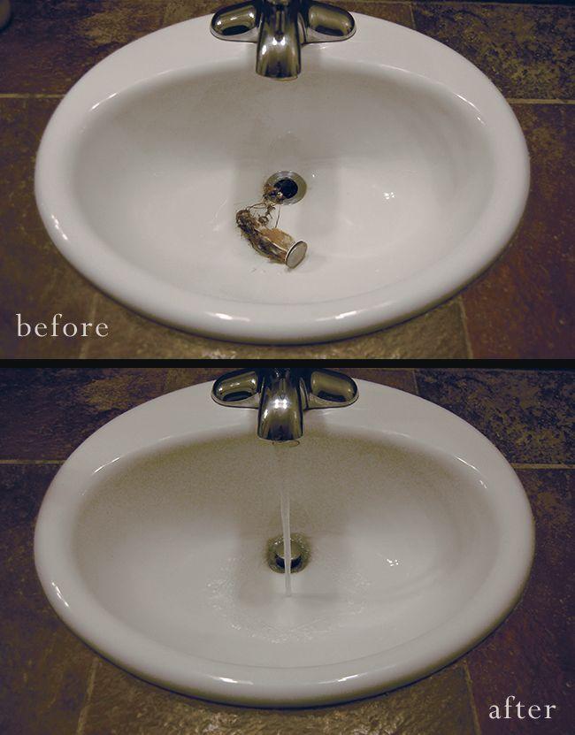 How To Un Clog Your Bathroom Sink Bathroom Sink Diy Clogged Sink Bathroom Unclog Bathroom Sinks