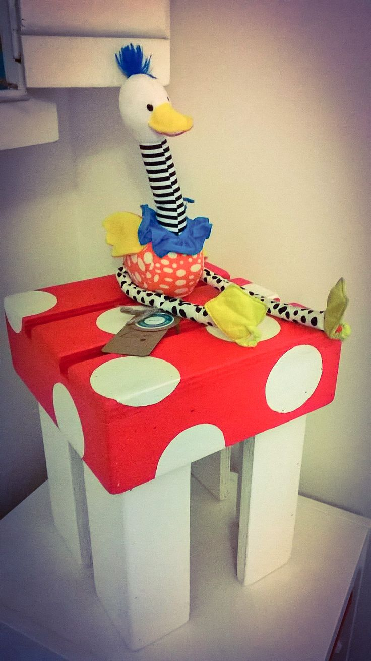 Designer toadstool stool for children / toddlers...www.alexisbarncreates.com