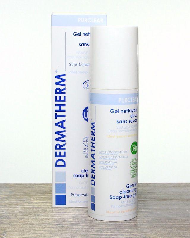 I love this organic cleansing gel:   Dermatherm Gentle Cleansing Soap-Free Gel