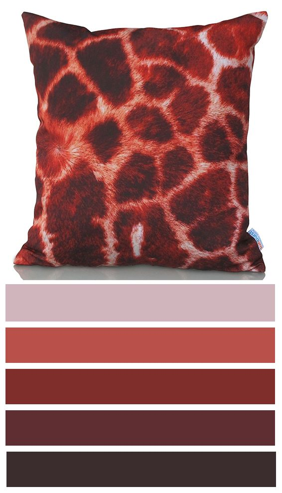 Giraffe cushion cover with giraffe fur looks like the design is created right for your indoor or outdoor interior! This neutral cushion cover design has a combination of dark and bright browns, rustic oranges and white colors.  http://www.sunburstoutdoorliving.com/collections/online/products/giraffe-cushion-cover