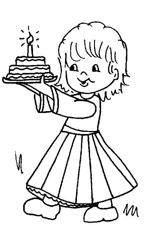 Meisje met taart
