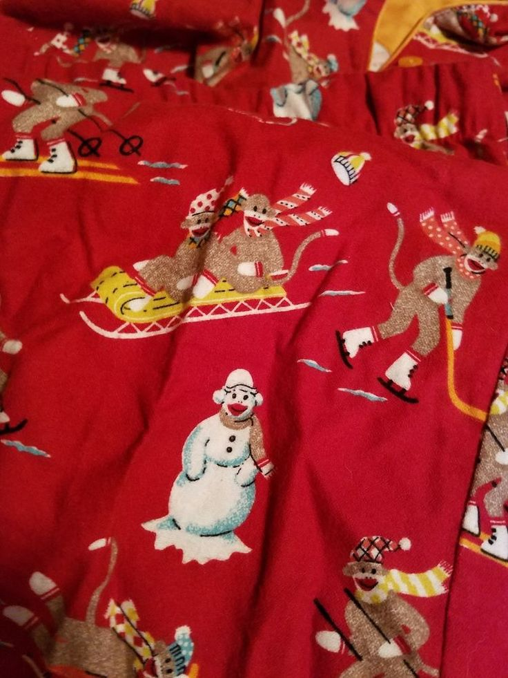 NICK & NORA WOMENS PAJAMAS FLANNEL RED SOCK MONKEY CHRISTMAS SIZE  XXL NWT tags #NICKNORA #PajamaSets