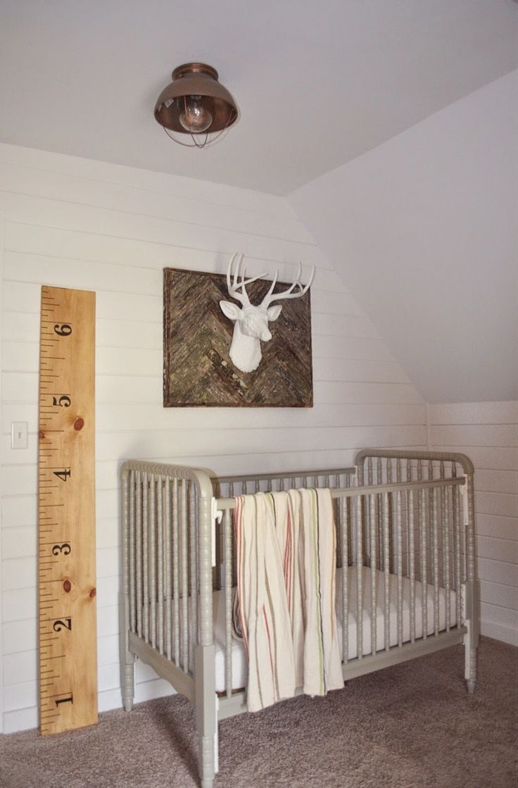 Our rustic-industrial nursery makeover at the farmhouse!