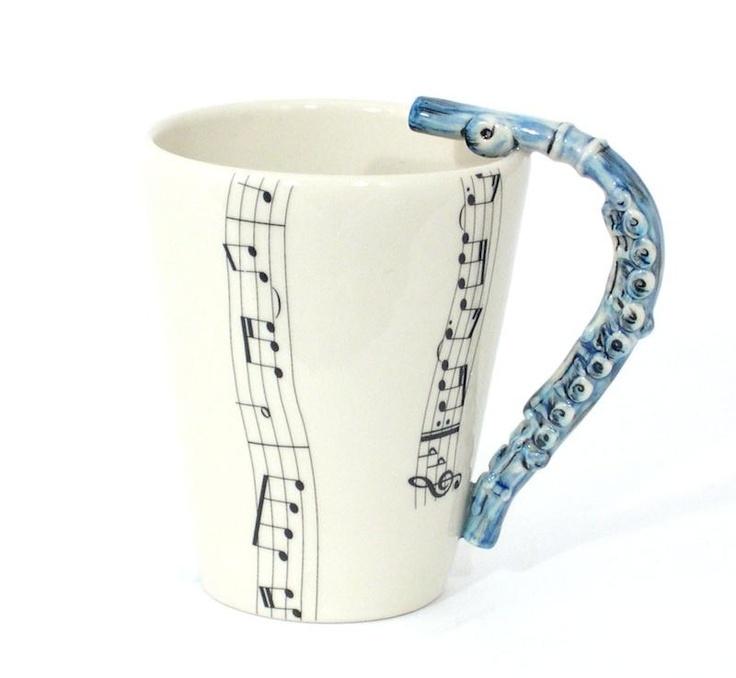 Cute flute mug!!