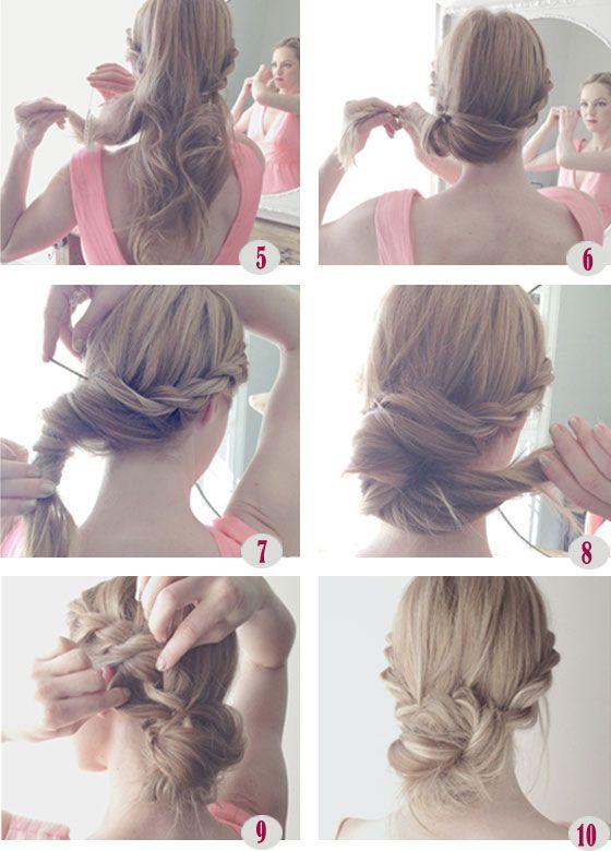 Peinados DIY: recogido natural con trenzas
