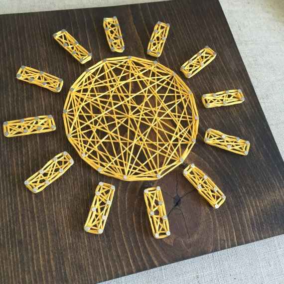 MADE TO ORDER String Art Mid-Size Sunshine by TheHonakerHomeMaker