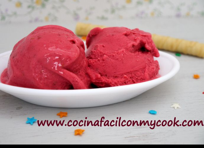 Helado de frambuesa para #Mycook http://www.mycook.es/receta/helado-de-frambuesa