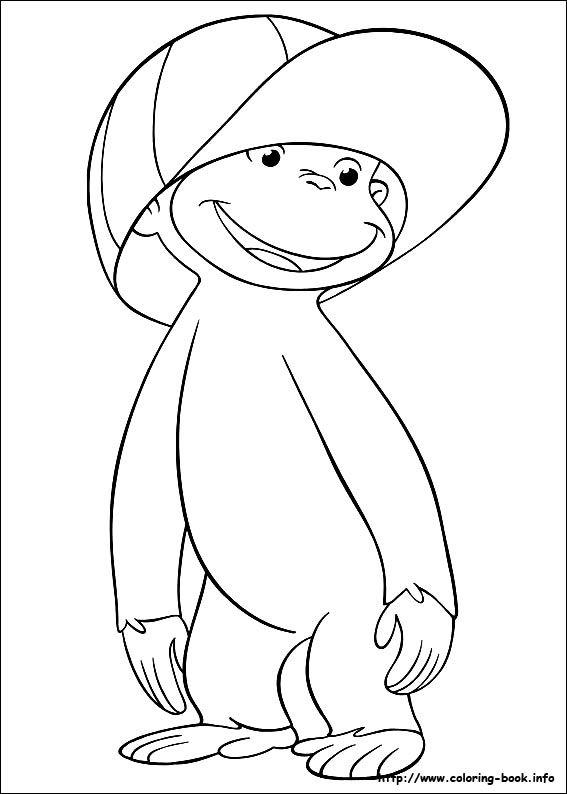 curious george coloring picture - Curious George Coloring Book In Bulk