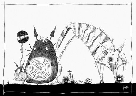 'Mi vecino Totoro', al estilo Tim Burton