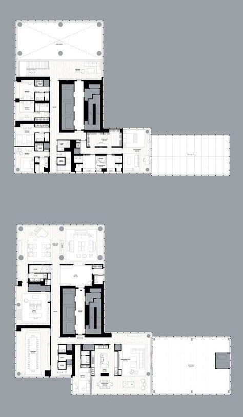 One57 Tower New York Duplex Kenchiku Townhouse Apartments Apartment