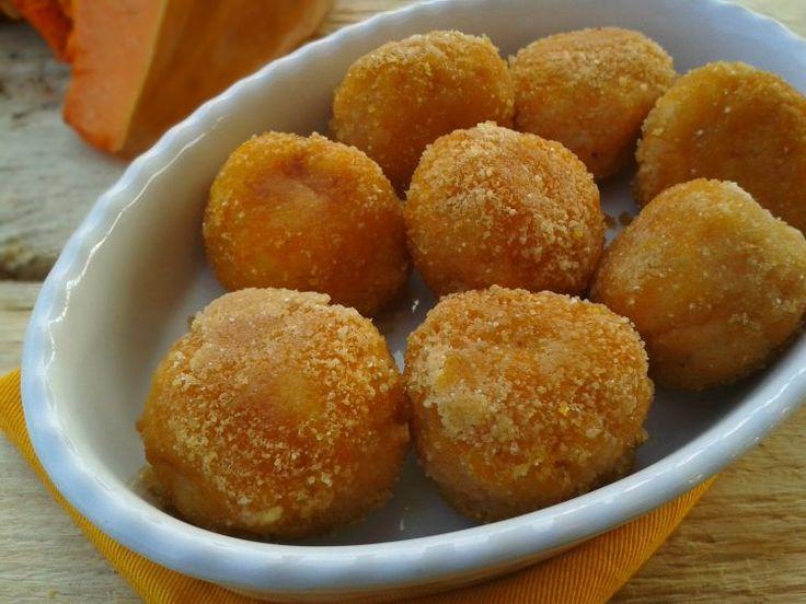 polpette di zucca con patate e provola affumicata