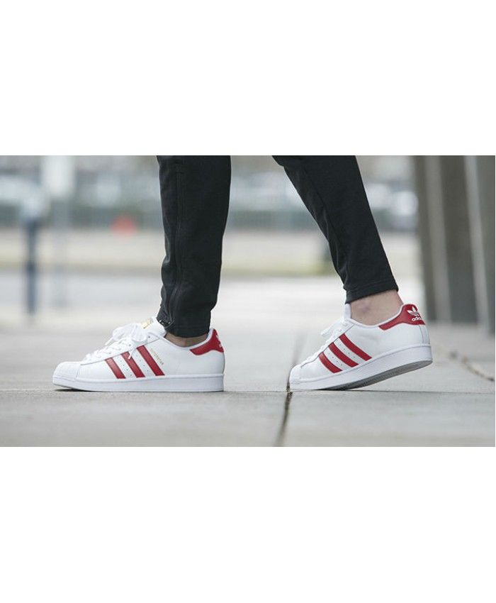 men's adidas red adicolor superstar so icy trainers nz