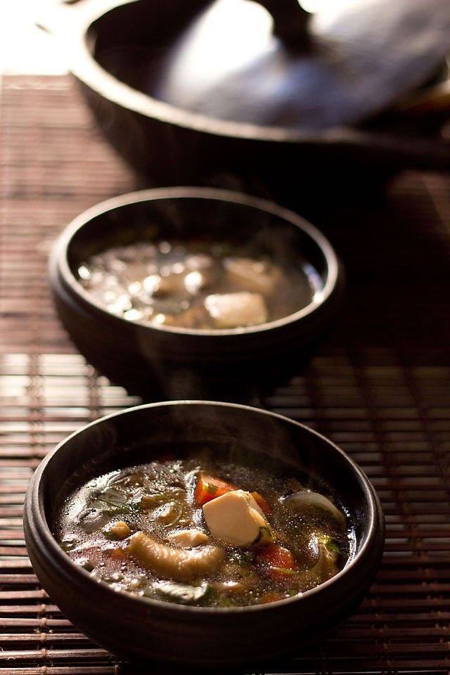 thai vegetable tofu soup recipe with step by step photos - a comforting and healing soup for the winters. now i have made thai food after a long long time as i was able to get some