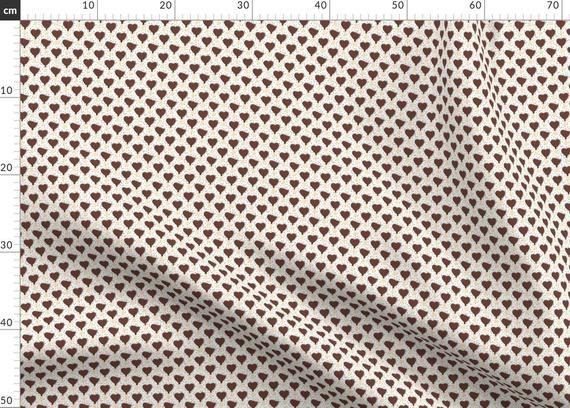 """Eiscreme-Stoff – 3/4 """"- herzförmige Eiscreme mit Punkten von Littlearrowdesign …   – Products"""