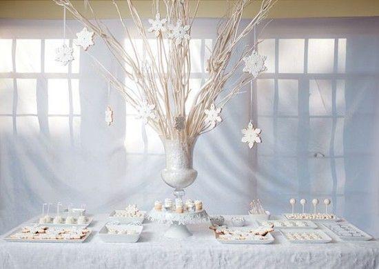 VÁNOCE NA SVATBĚ   Svatební blog - Pět věcí  Winter candy bar / zimní sladký stůl