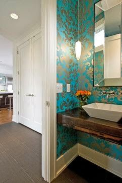 Beautiful Wallpaper  House of Turquoise: Guest Blogger: Renae Keller Interior Design