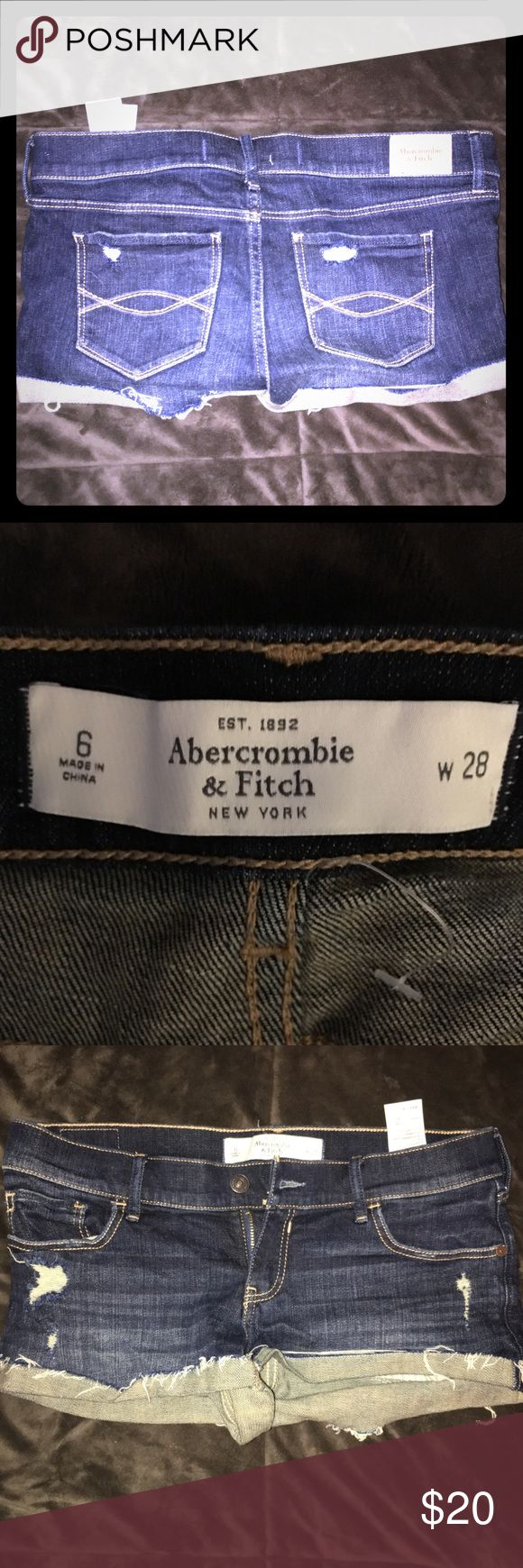 Abercrombie and Fitch shorts Abercrombie and Fitch shorts 💙 Size 6 - NEVER WORN 💙 Abercrombie & Fitch Shorts Jean Shorts