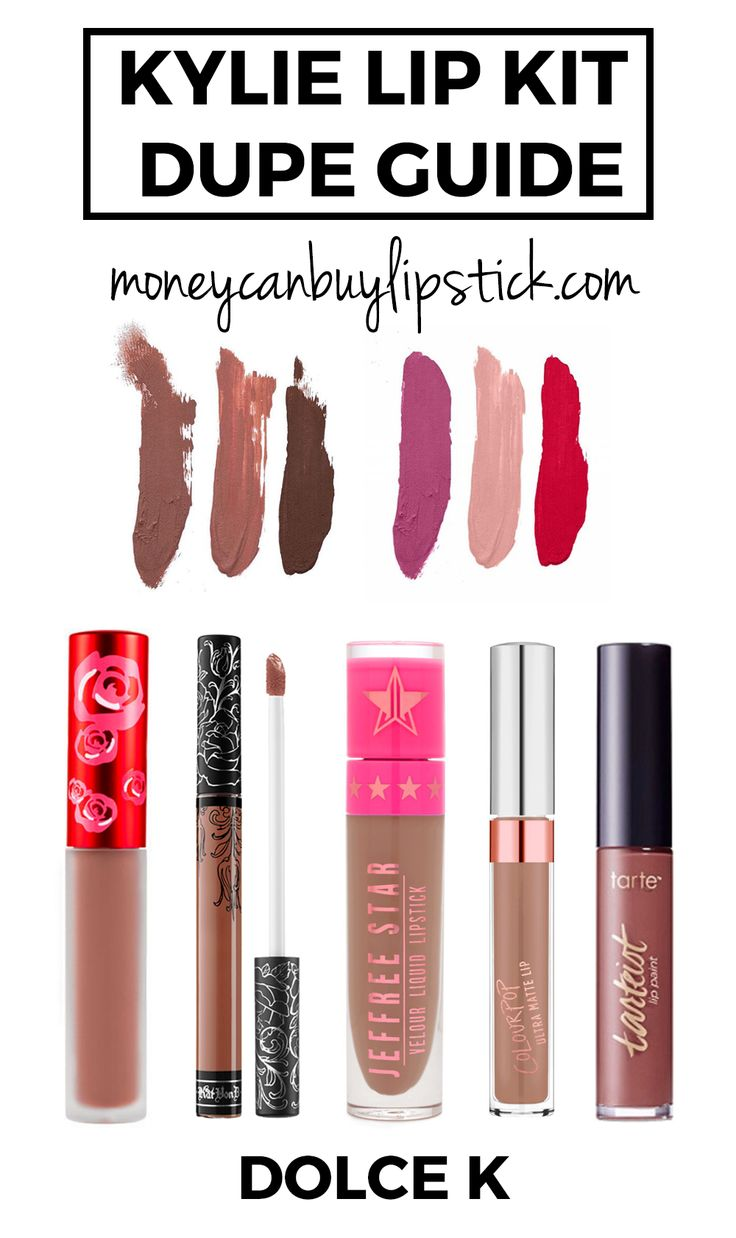 Kylie Cosmetics Lip Kit Dupes. Kyle Lip Kit Dupes. Dolce K Dupes. Lip Kit by…