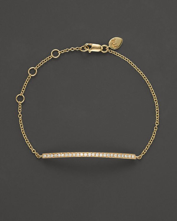 Meira T 14K Yellow Gold Diamond Bar Bracelet