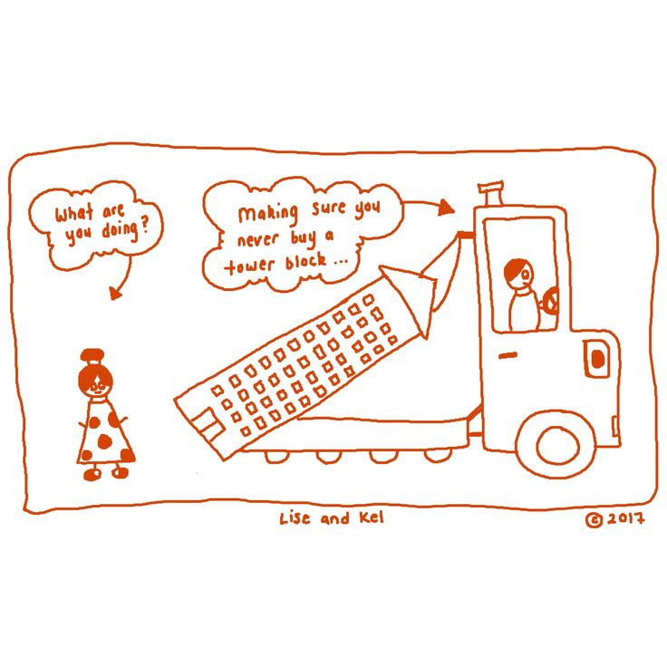 #Property investment tip 13: Why you should not buy an apartment in a high rise tower block #homebuyers #comics