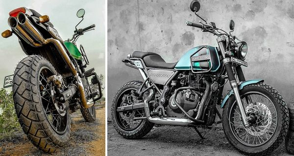 Modified Royal Enfield #Himalayan by #GRID7 Customs  http://news.maxabout.com/bikes/modified-royal-enfield-himalayan-by-grid7-customs/