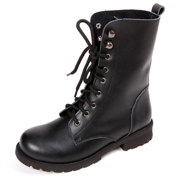 Lace up Motorcycle Martin Boots Gothic Punk Shoes