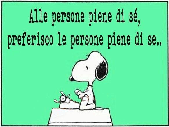 Snoopy e il se