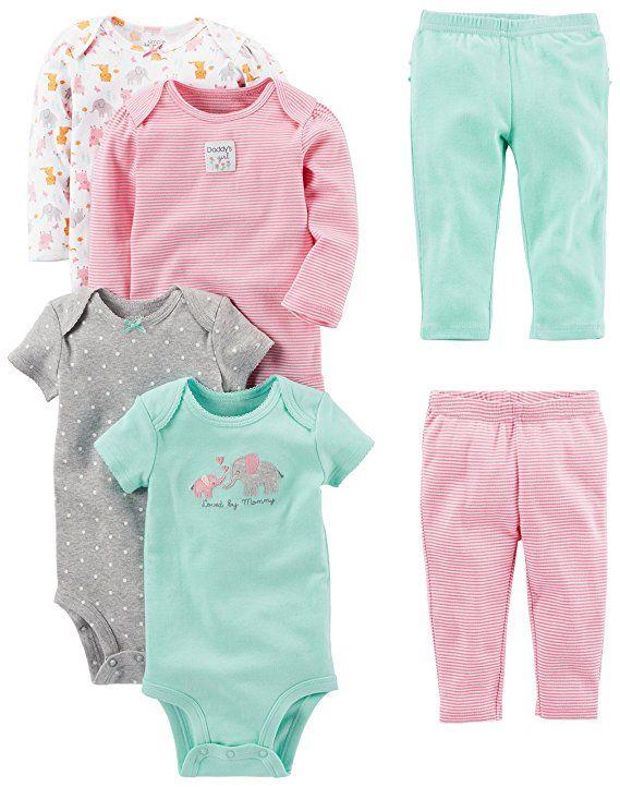 99767d78e Simple Joys by Carter s Baby Girls  6-Piece Little Character Set ...