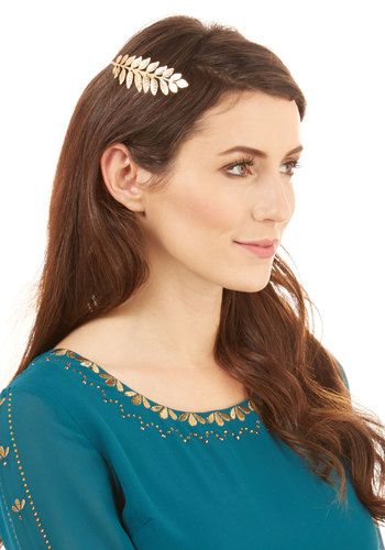 Honest to Goddess Headband. Your do sure looks divine when you lay this golden crown among your locks! #gold #prom #modcloth