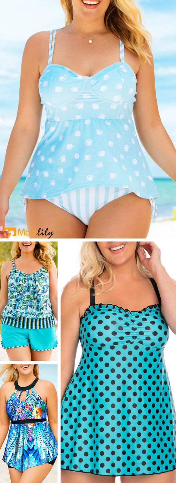 plus size, printed, casual, summer outfit, swimwea…
