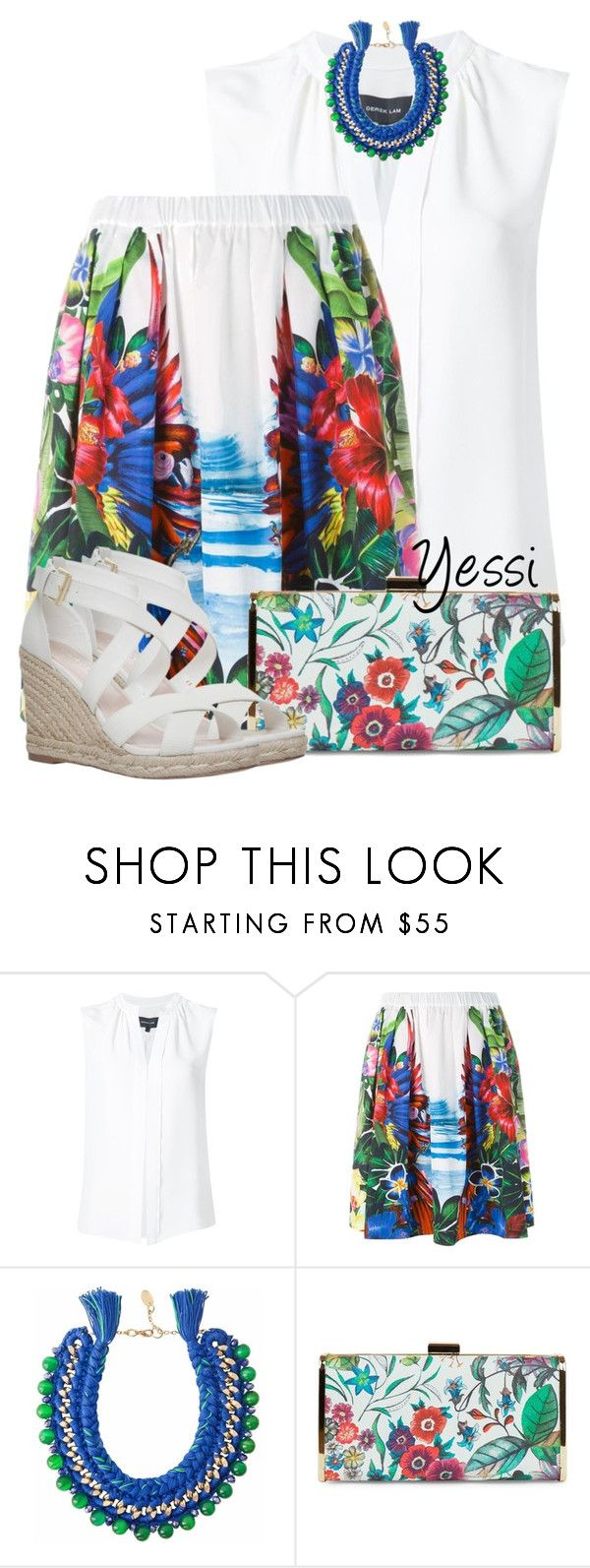 """~ 💕 Tropical 💕 ~"" by pretty-fashion-designs ❤ liked on Polyvore featuring Derek Lam, Dsquared2, Ricardo Rodriguez, Jessica McClintock and Carvela"