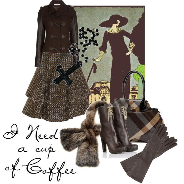 """I Need a Cup of Coffee"" by moodycat on Polyvore"