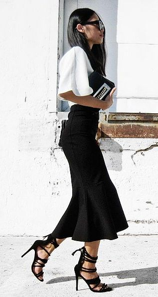 A Fluted Skirt and Luxe Top