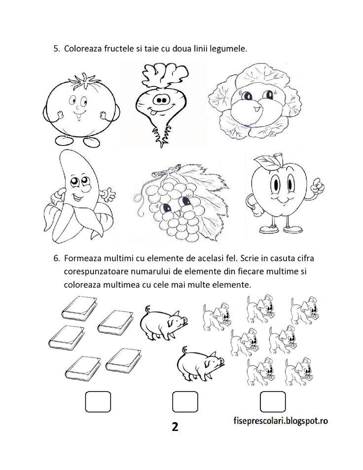 FISE de evaluare initiala MEM (Matematica si explorarea mediului) - Clasa Pregatitoare   Fise de lucru - gradinita